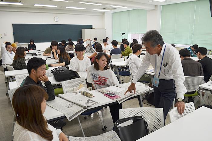 柴田の実体験から紡ぐ講義は学生に好評!