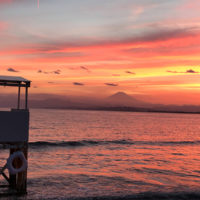 鵠沼海岸の夕日