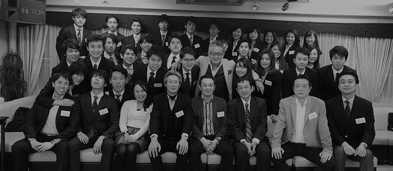 母校現役大学生30人に紛れ込んで喜ぶ弊社代表の柴田明彦